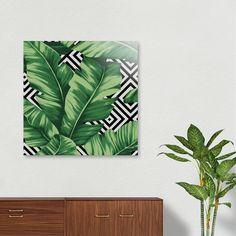 Discover «Banana leaf», Exclusive Edition Aluminum Print by Paola Morpheus  #pictures #interiordesign #bedroom #bathroom #dinningroom #bananaleaf #summer #dress #dresses #design #moda #moda2017 #summer2017 #geometric #geometria #foglie #banana #leaf #cameradaletto #arredo #arredamento #green #bio #flower #fiori #piante #natura #nature #plant #deco #idee #ideegreen #wedding #gif #buy #paolamorpheus #artist #living #room #livingroom #italy #beauty #house #housesweethouse #spring #b/n #garden
