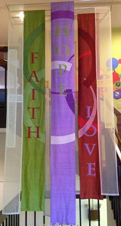 Foyer Installation in silk dupioni and silk organza.
