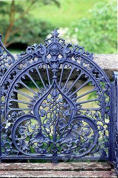 Wrought iron Gate at Bantry House -   Ireland
