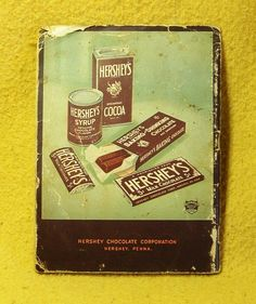 Vintage Hershey's Hershey Candy, Hershey Chocolate, Chocolate Heaven, Hershey Syrup, Vintage Tins, Chocolate Recipes, Vintage Posters, Mars, Cocoa