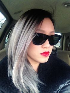 ooooh or silver ombre (easiest for me since my hair is already dark)