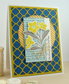 MFT: Forget Me Not stamps and die-namics, Modern Morocco cover plate die-namics  http://simplyhandmadebyheather.blogspot.com/2014/03/im-here-if-you-need-me.html