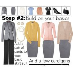 Fashion in Infographics — Building a Work Wardrobe: Step 2 of 5 See also:...