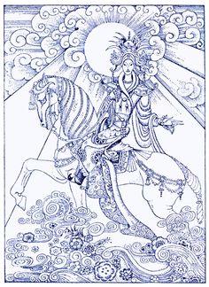 Aladdin Mounted His Horse