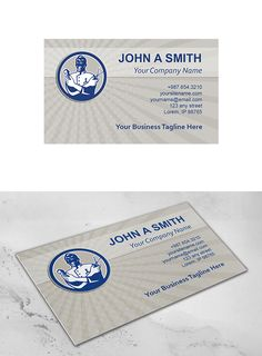 Business Card Template Barber Retro