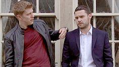 """Every Aaron Dingle Hug (In Chronological Order) Part "" Aaron Livesy, Emmerdale Actors, Danny Miller, Robert Ryan, Christian Mccaffrey, Past Present Future, Soaps, Tv Series, British"
