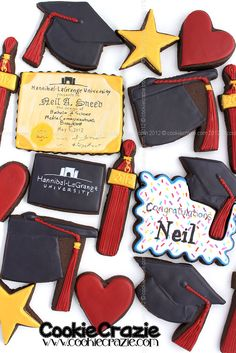 CookieCrazie: Neil's College Graduation Cookie Collection