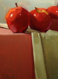 "Aaron Lifferth :: juxtaposition of the realism of the cloths vs. ""angles"" given to the apples..."