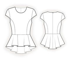 Personalized peplum top pattern from Tiptopfit Etsy
