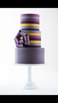 Purple stripey cake