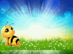 Hintergrund_Biene_03 Pikachu, Snoopy, Fictional Characters, Art, Bees, Crate, Craft, Kunst, Fantasy Characters