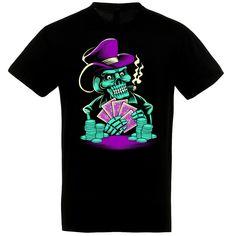 Skeleton Poker fekete póló Poker, Skeleton, Halloween, Mens Tops, T Shirt, Supreme T Shirt, Tee Shirt, Skeletons, Halloween Stuff