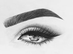 Dark Art Drawings, Beautiful Drawings, Art Drawings Sketches, Pencil Drawings, Eye Drawings, Eye Sketch, Girl Sketch, Eye Drawing Tutorials, Drawing Techniques