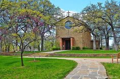 The Little Chapel in the Woods at Texas Woman's University in Denton, Texas Serenity, Peace, Joy, Grace. These words represent the very essence of The Little Chapel in the Woods…