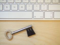 Key(board) Desk Brush: A clever little way to keep your keyboard dust free.