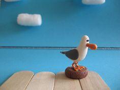 Finding Nemo Polymer Clay Seagull figurine by WongWayJamie on Etsy, $14.00