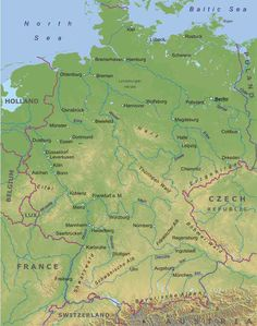 germany physical map see more at httpwwweverythingaboutgermany
