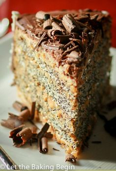 This Poppy Seed cake with Dulce de Leche Buttercream combines all the things I love in a cake, poppy seeds, walnuts, dulce de leche and chocolate, kind of hard not to love this kind of combination. Sweet Recipes, Cake Recipes, Dessert Recipes, Fun Desserts, Delicious Desserts, Russian Cakes, Poppy Seed Cake, Rhubarb Cake, Cupcake Cakes