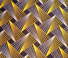 Retro Flash In Yellow And Brown - Original South African ShweShwe designer fabric