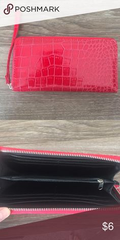 Red Snakeskin Wallet Zip around wallet Bags Wallets