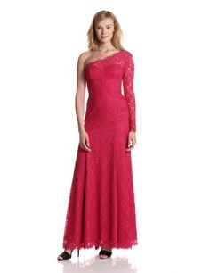 Bcbgmaxazria Women's Betsy Knit Evening Dress, Turkish Rose, 12