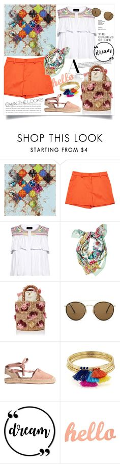"""Day In Casablanca !"" by arwitaa on Polyvore featuring Grandin Road, Moschino, Saloni, Mantero, Aranáz, Ray-Ban and Aqua"