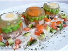 Fotorecept: Aspikové tortičky Clean Recipes, Sushi, Food And Drink, Keto, Ethnic Recipes, Sushi Rolls