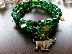 40% OFF Green and Black Bulls Bracelet Set- College Collection. via Etsy