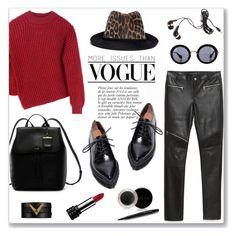 """Red sweater"" by bogira ❤ liked on Polyvore featuring Sportmax, DKNY, Valentino, Miu Miu, Zara, Forever 21, Jeffrey Campbell, Dot & Bo, STELLA McCARTNEY and Anja"