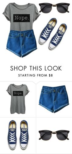 """#242"" by mahira-muminovic ❤ liked on Polyvore featuring Converse"