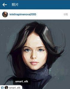 Kristina Pimenova Digital Portrait by smart_elk