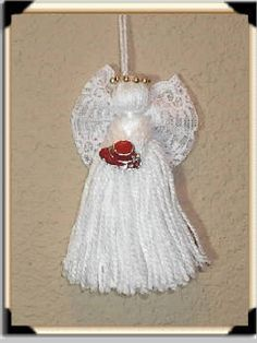 Homemade Angel Christmas Ornaments | Handmade Angel Pin Crafts Christian Gifts Religious Gifts angel Gifts …