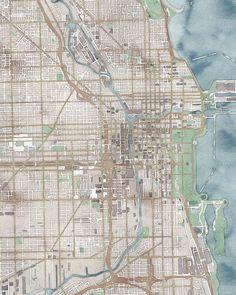 Kansas City Map Print Kansas City Art Kansas City KS MO City