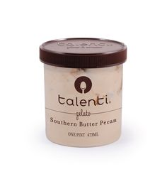 Talenti Southern Butter Pecan gelato. Thank you, South, for deciding to roast your pecans in butter. We did just that and added a dulce de leche swirl to this nutty gelato. Best enjoyed on rocking chair, on a porch, with a ceiling fan.