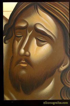 Kliknij aby obejrzeć w pełnym rozmiarze Images Of Christ, Pictures Of Christ, Byzantine Icons, Byzantine Art, Religious Icons, Religious Art, Greek Icons, Religion Catolica, Jesus Face