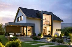 Haus 1 - Architecture Designs - Up 1 - Exterior Design Modern Bungalow Exterior, Dream House Exterior, Architecture Design, Residential Architecture, Commercial Architecture, Design Exterior, Exterior Colors, Prefabricated Houses, Facade House