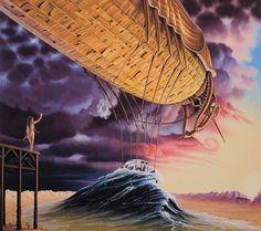 Jacek Yerka - Art Collection: Zeppelin
