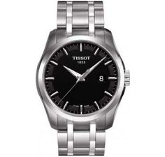 The Tissot Couturier mens watch is perfect for the stylish individual with a  black dial and stainless steel bracelet. 3f5287f76597