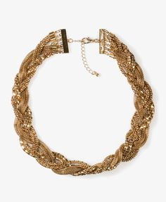 Braided Popcorn Chain Necklace   FOREVER21 - 1040496006