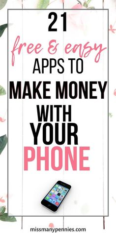 20 Quick and Easy Money Making Apps for your SmartphoneMake extra money with these money making apps for your mobile or tablet. Quick and easy side hustles for extra cash. Best Money Making Apps, Make Money Fast Online, Make Quick Money, Make Money Now, How To Make, Smartphone, Apps That Pay You, Making Extra Cash, Applications