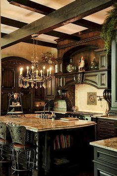 Modern french country kitchen decorating ideas (67)