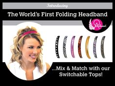 OA Sweet Folding & Switchable Tops Headband!  So comfy....Wear like sunglasses (no pressure points) behind the ears! available @   http://www.amazon.com/gp/product/B00N6XX3Z2  @  www.oasweet.com