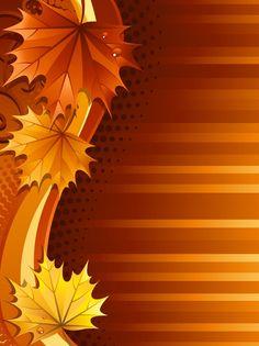 Autumn Leaf Background vector free