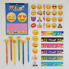 Go back to school in style with this emoji school supply fun pack featuring…