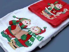 toallas con motivos navideños - Buscar con Google
