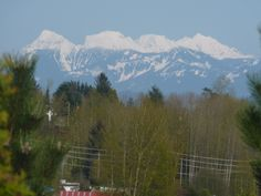 2011  Snow capped mountain just east of Mission BC