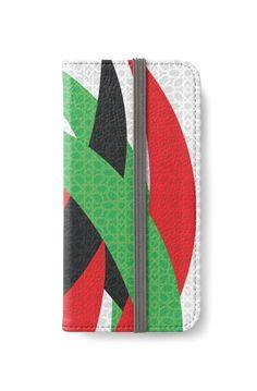 """U.A.E. National Day 46th"" iPhone Wallets by wowarts | Redbubble   #wowarts #wowartworks #واو_آرت #redbubble #uae #uaenationalday #nationalday #pattern #الإمارات #الإمارات_العربية_المتحدة #اليوم_الوطني #نمط  #Cases #iphone #iphonewallet #iphonecase #accessories"
