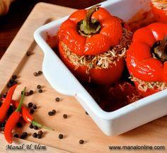 الفليفلة الحمراء المحشية - مطبخ منال العالم