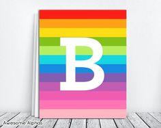 Letter M Printable. M Initial Nursery Art. DIY Alphabet Letter M Wall Art. Girls Nursery Monogram M. Printable Alphabet Letters, Alphabet Art, Printable Art, Printables, Baby Girl Room Decor, Girl Rooms, Girls Bedroom, Initial Art, Rainbow Nursery