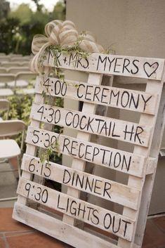 Ideas para usar pallets y cajas de madera en la decoración de tu boda : Fiancee Bodas